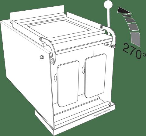 BagMixer W - Door opening 270°