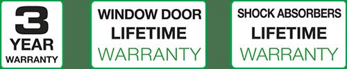Image - 3 year warranty - window door warranty - shock absorbers