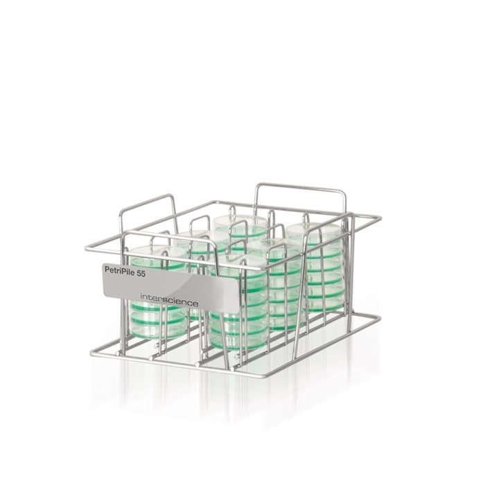 Petripile 55 (Ref. 241 055) - Storage stack for 36 Petri dishes Ø 55 mm