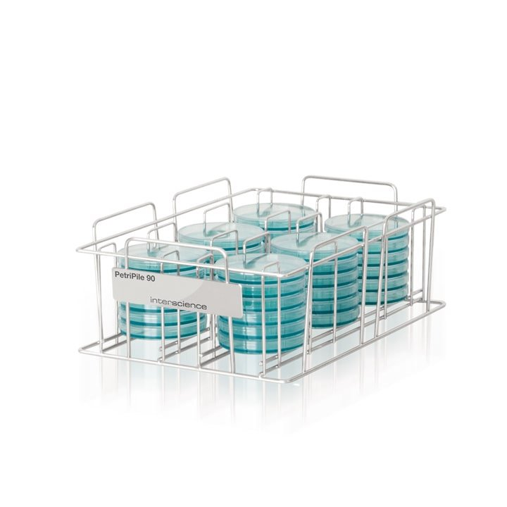 Petripile 90 (Ref. 241 090) - Storage stack for 36 Petri dishes Ø 90 mm