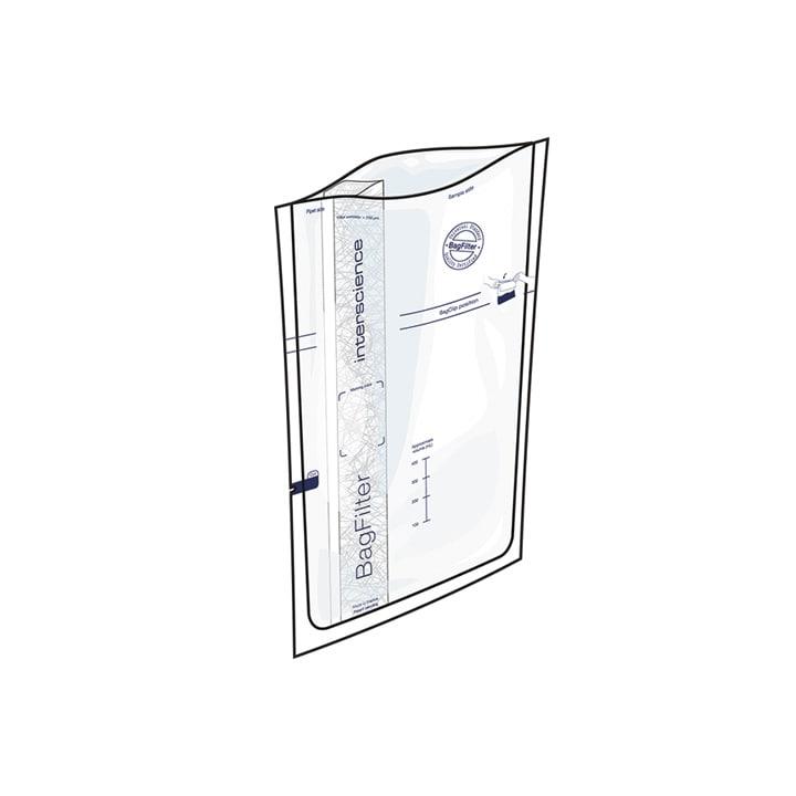 Interscience 113510 BagFilter Sterile Side Filter Bag 3500 mL Volume